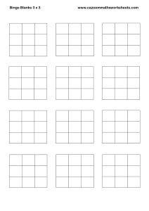Bingo Blanks 3 x 3