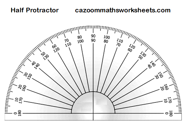 image about Free Printable Protractor named Totally free MathsTeaching Elements Entertaining Maths Elements