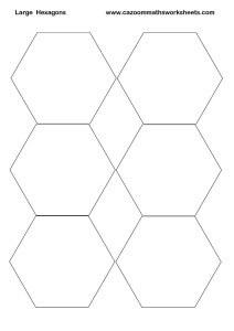 Large Hexagons Printable