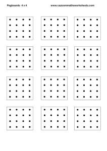Peg Boards 4 x 4