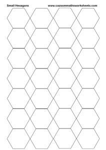 Small Hexagons Printable