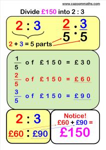 Dividing into Ratios Example