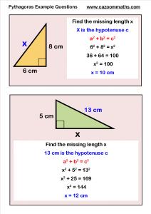 Pythagoras Example Questions