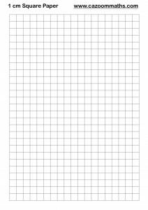 1 cm Square Paper