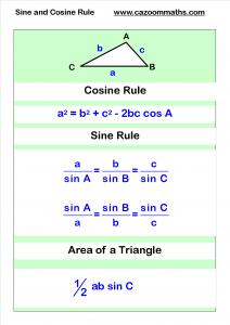 cosine and sine rule