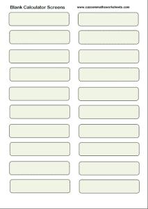 Blank Calculator Screens