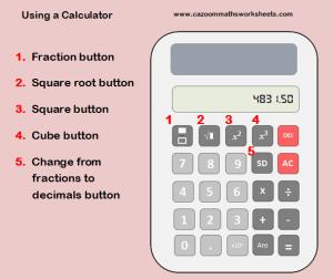 Using a calculator help sheet