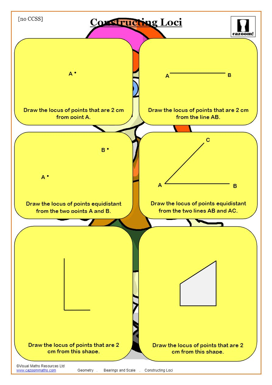 Loci And Bearings Common Core Bearings Maths Worksheet With Answers [ 1262 x 892 Pixel ]