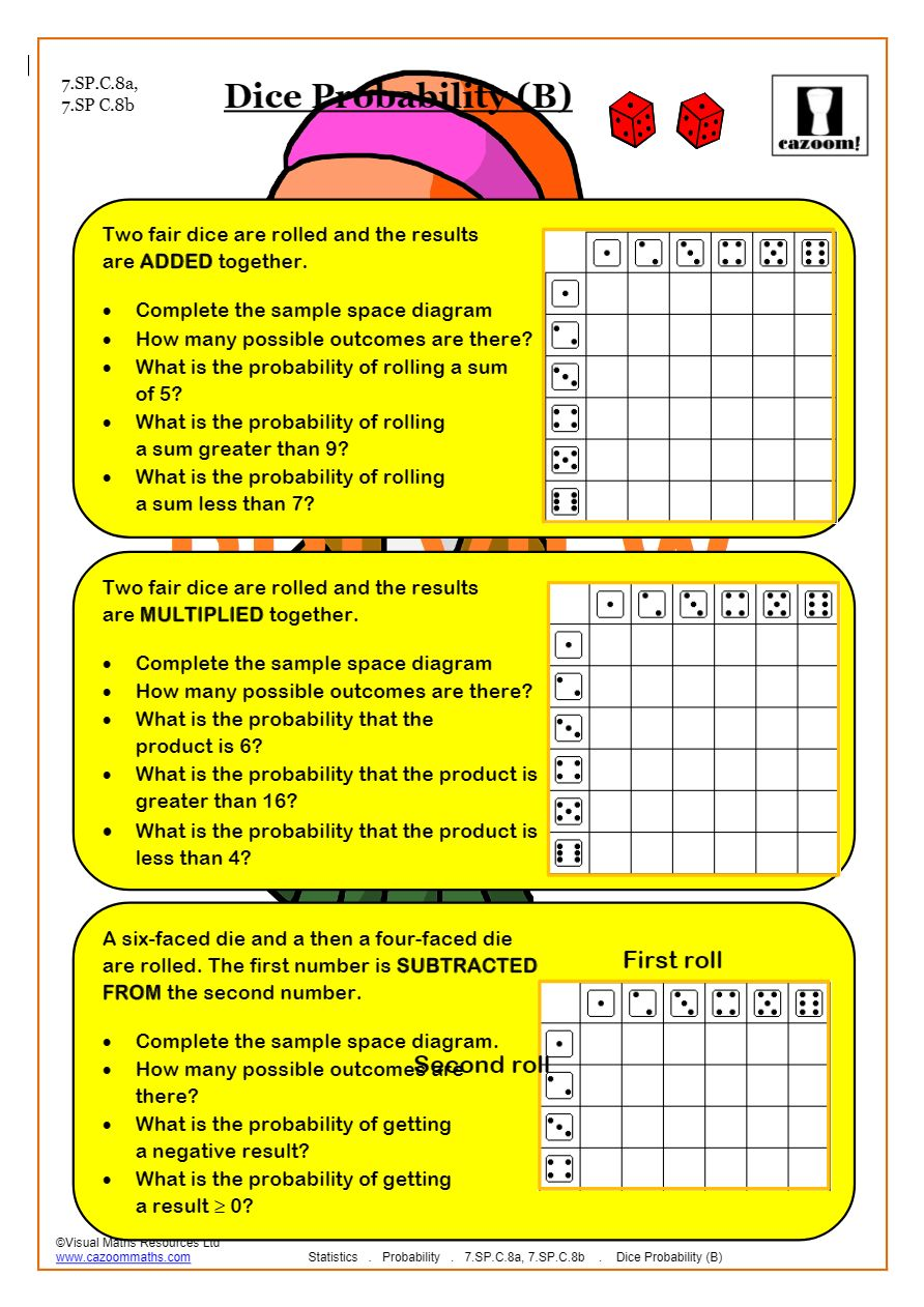 Probability Worksheets  Probability Tree Questions & Answers Inside Probability Worksheet High School