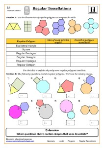 Geometry Maths Worksheet ks3, Regular Shapes