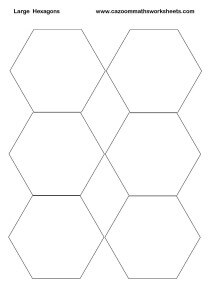 Large Hexagons Printable