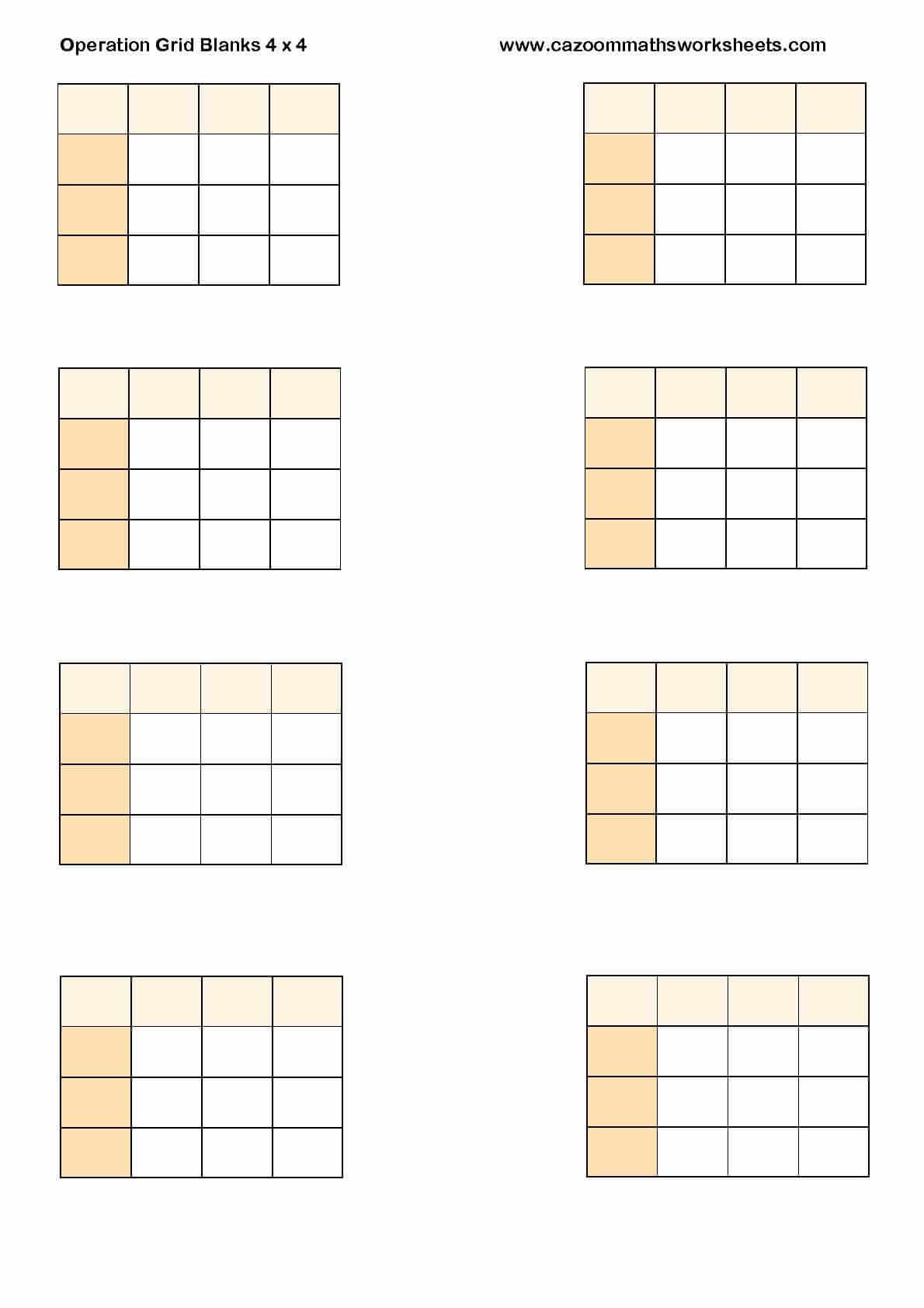Blank Multiplication Grid Method Worksheet grid method – Multiplication Grid Method Worksheet