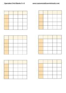 Operation Grid Blanks 5 x 5