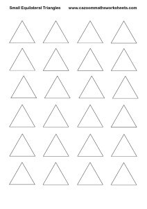 Small Equilateral Triangles Printable