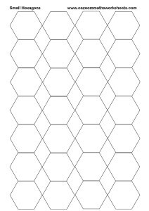 Small Hexagons Printable