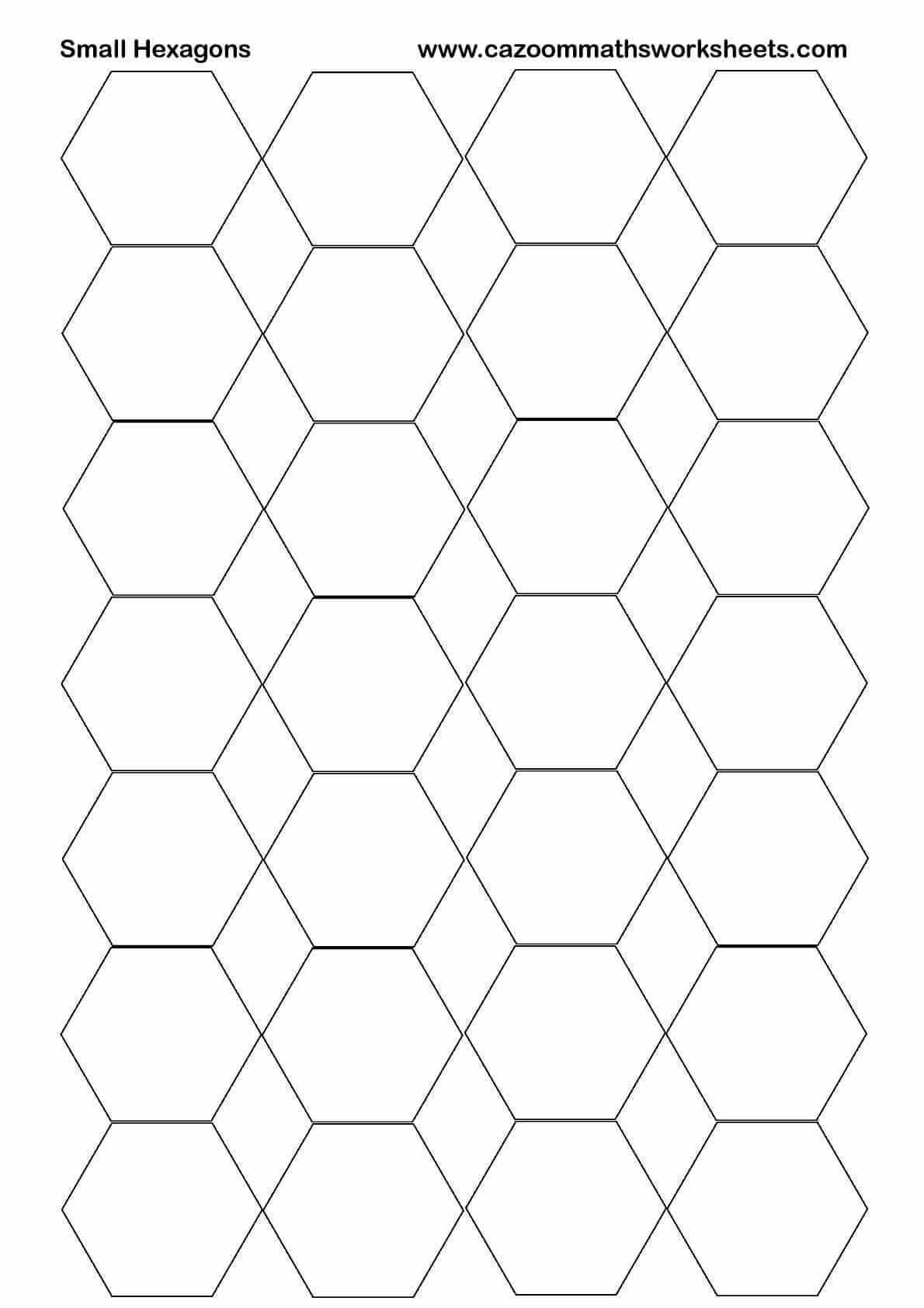 photograph regarding Printable Hexagons named Low Hexagons Printable Cazoom Maths Worksheets