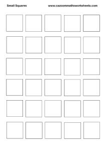 Small Squares Printable