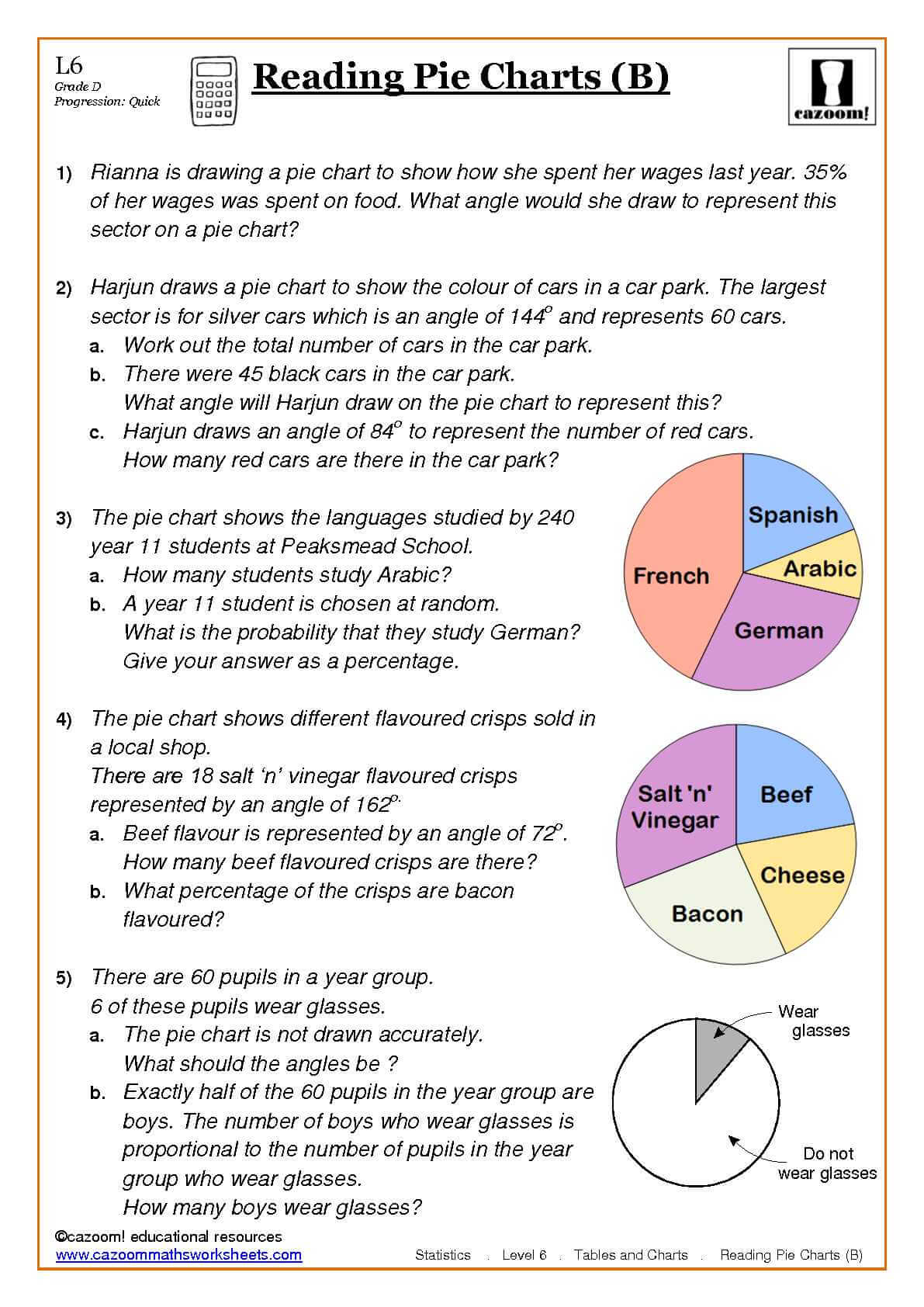 worksheet Ks3 Maths Sats Revision Worksheets best of pie charts ks3 worksheets goodsnyc com statistics maths ks3