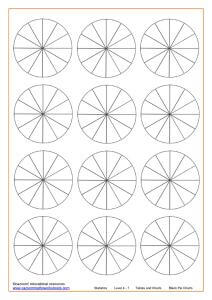 Blank Pie Charts 12 sections