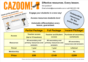 Price List for Effective, Outstanding Secondary Resources