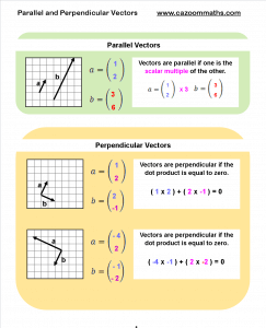 Parallel and Perpendicular Vectors