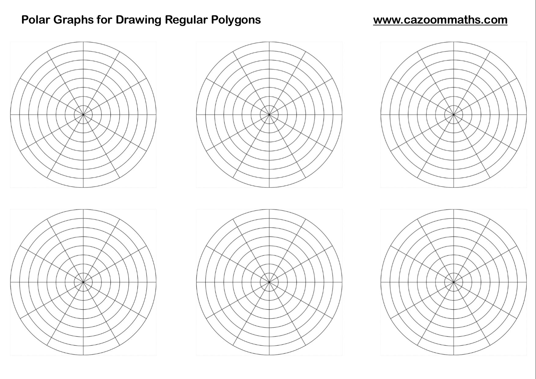 Polar Graphs for Drawing Regular Polygons | Cazoom Maths Worksheets
