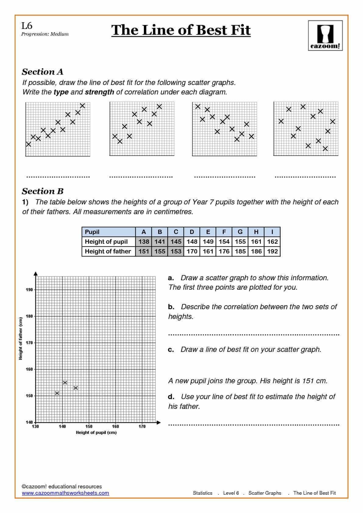 math worksheet : statistics worksheets  cazoom maths worksheets : Math Worksheets Ks3