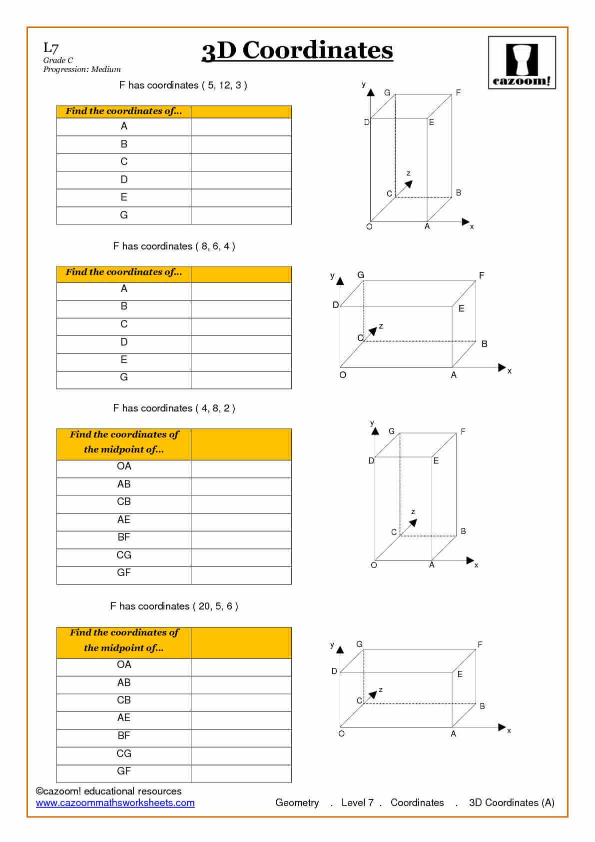math worksheet : trigonometry and pythagoras worksheets : Coordinates Maths Worksheets