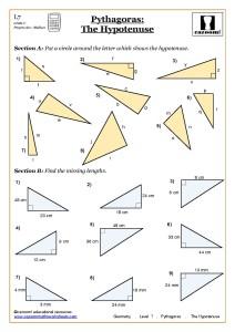 Geometry Pythagoras Worksheets ks4