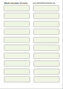 Blank Calculator Screens