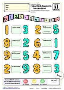 Ks1 subtraction maths worksheet