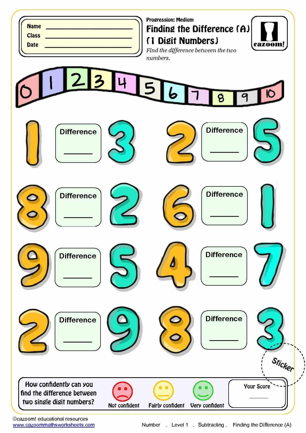 ks1 subtraction maths worksheet cazoom maths worksheets. Black Bedroom Furniture Sets. Home Design Ideas