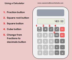 Using a calculator help sheet