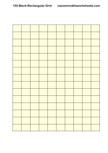 Blank 150 Rectangular Grid