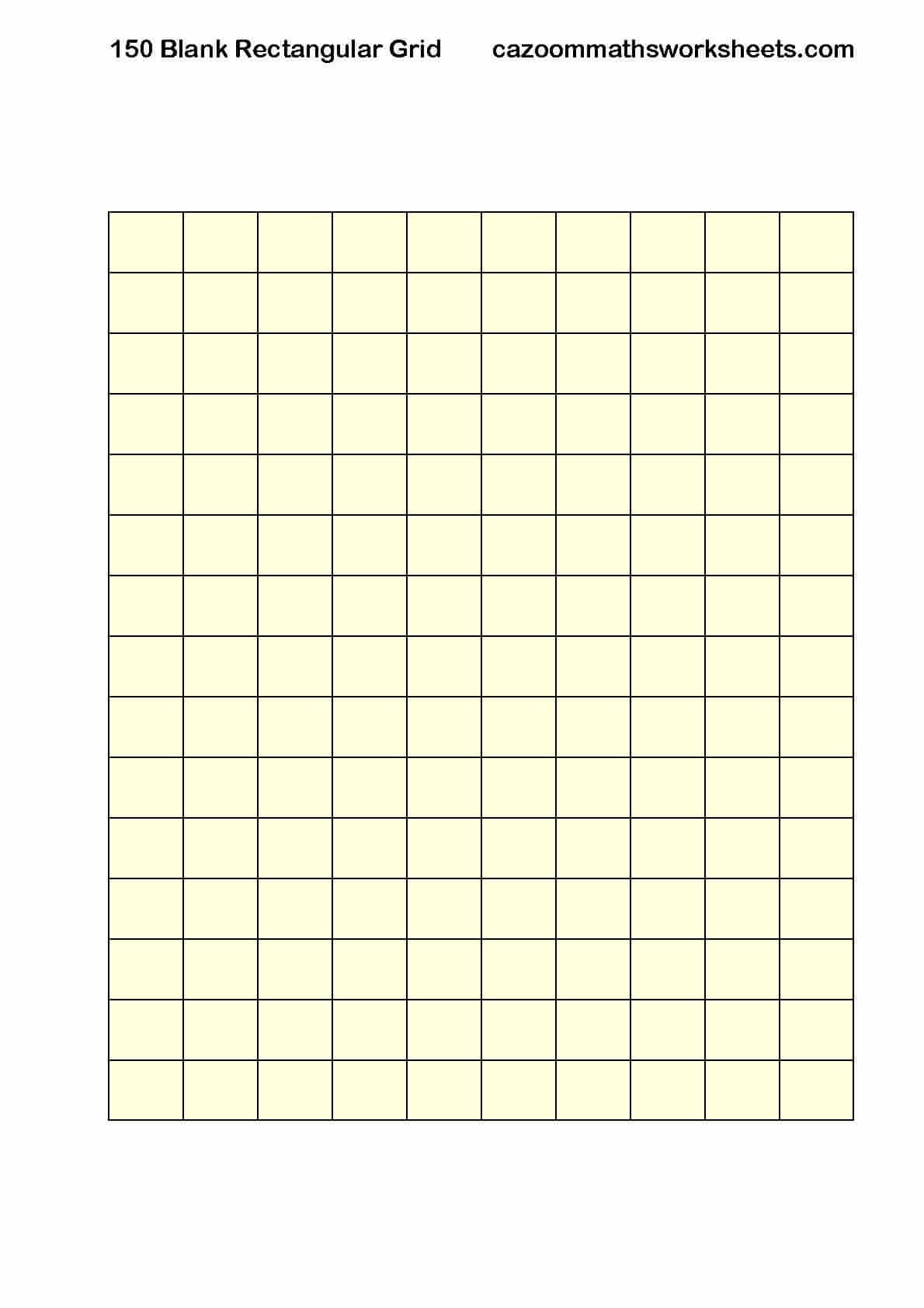 Number resources cazoom maths worksheets blank 150 rectangular grid gamestrikefo Image collections