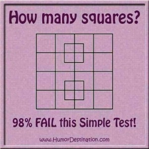 Math puzzle with squares