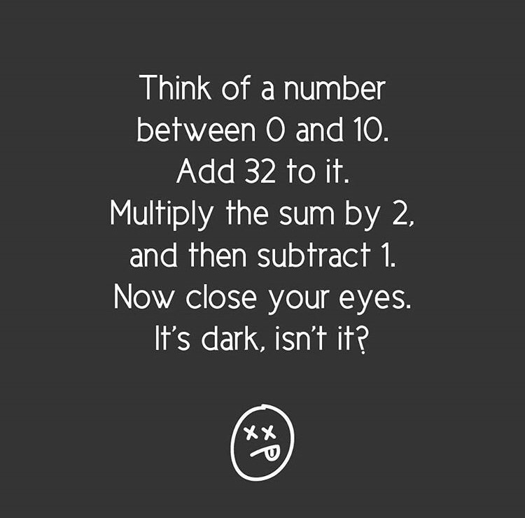 maths joke 101