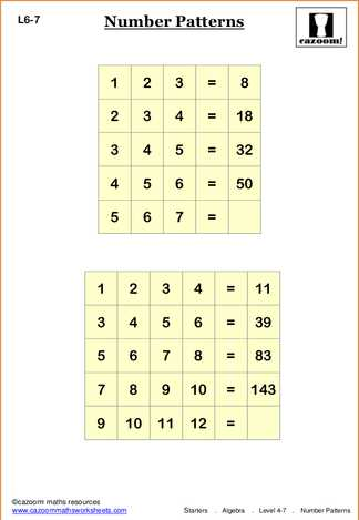 Algebra Maths Puzzle