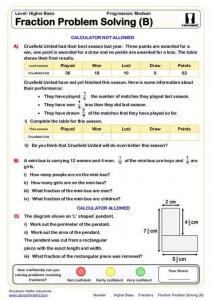 Gcse Maths Worksheets Pdf fractions