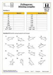 Ks3 Maths Worksheets pythagoras