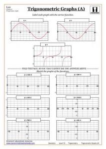 Trigonometry maths worksheet
