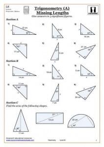 trigonometry Gcse Maths Worksheets
