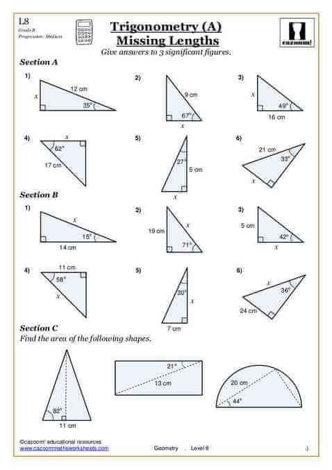 trigonometry problems worksheet resultinfos. Black Bedroom Furniture Sets. Home Design Ideas