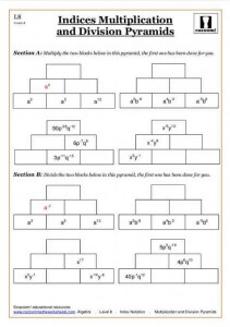Cazoom indices worksheets