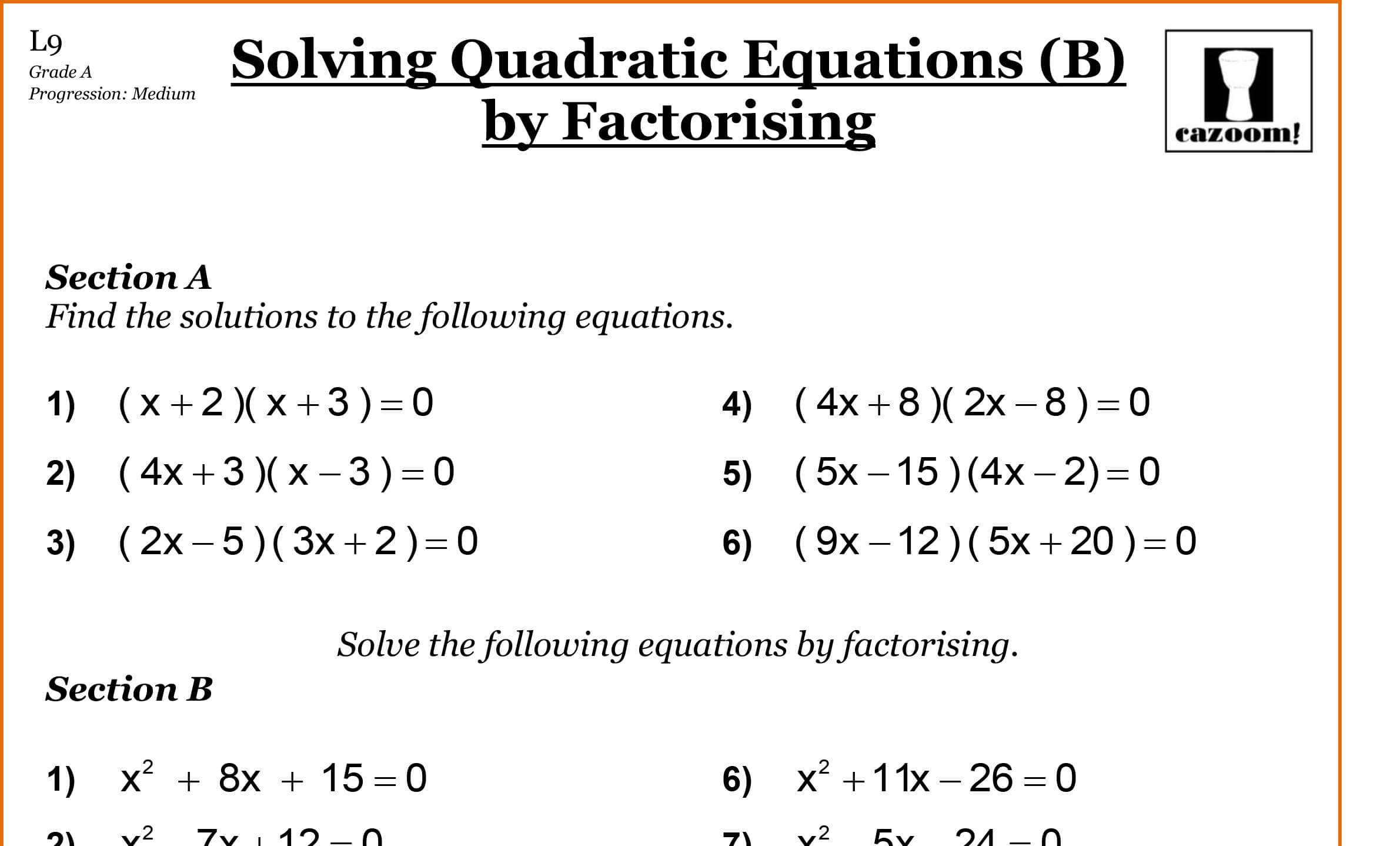 Year 10 Maths Worksheets | GCSE Maths Worksheets