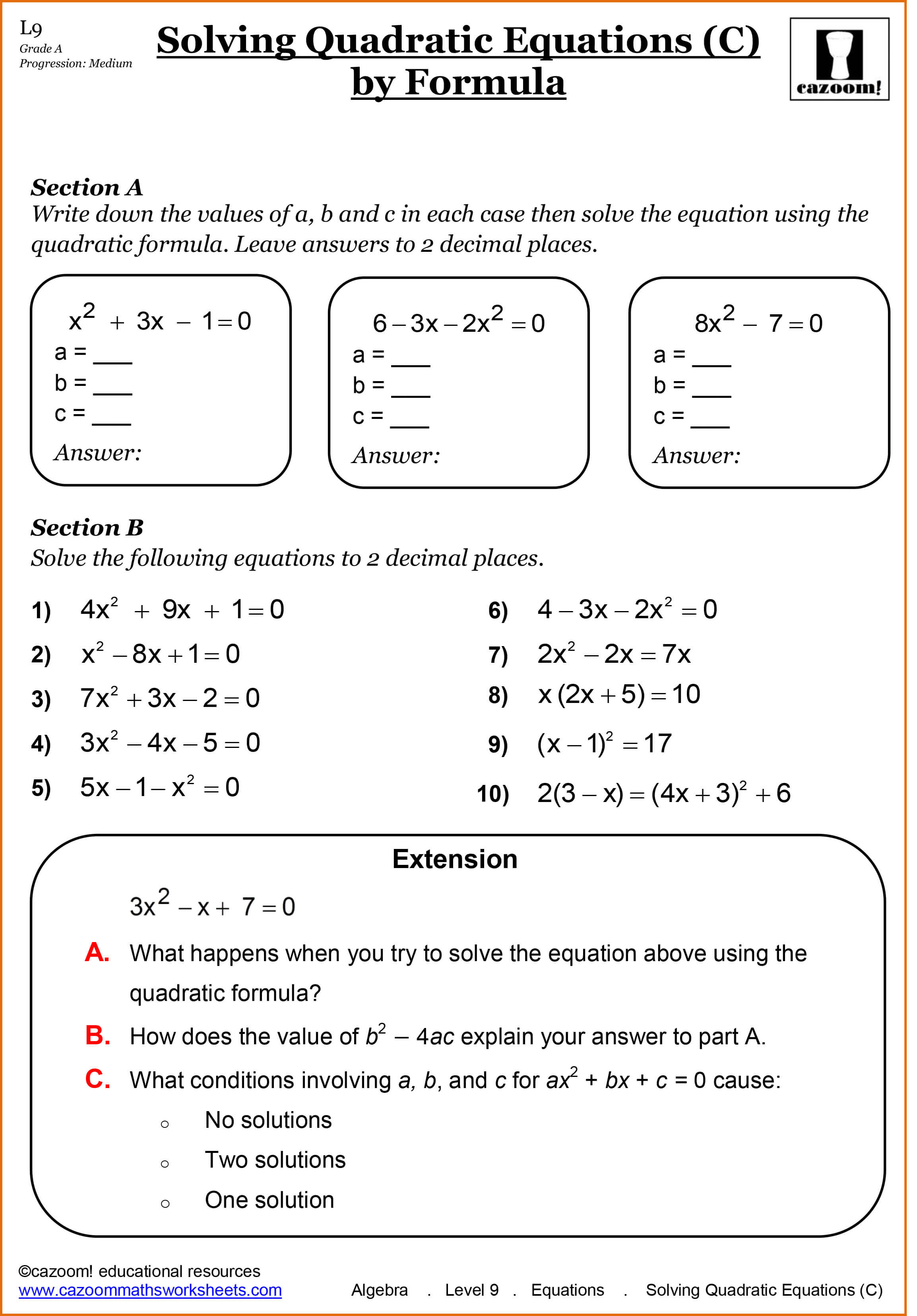 Year 11 Maths Worksheets | GCSE Maths Worksheets