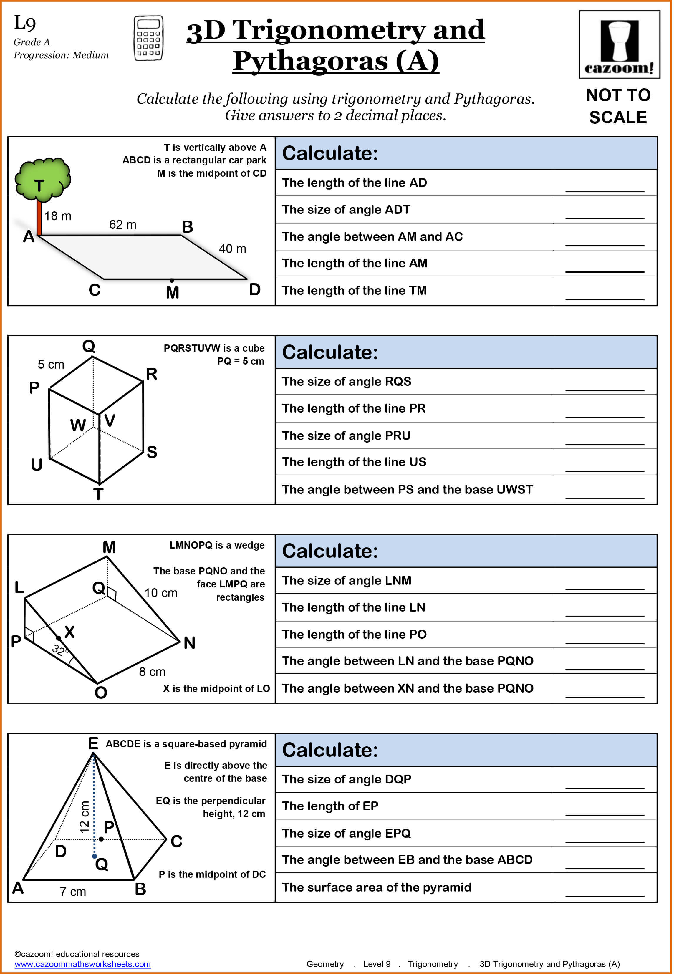 Year 11 Maths Worksheets | Cazoom Maths Worksheets