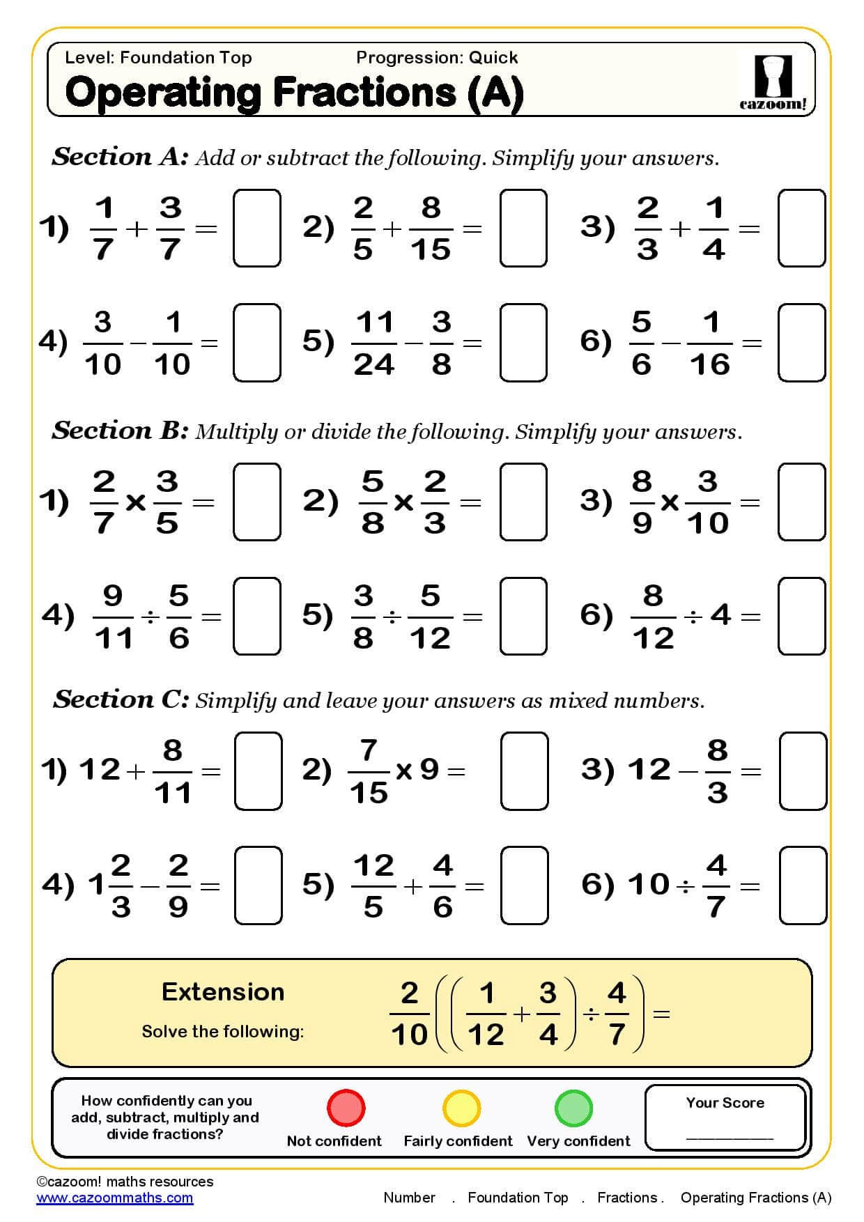 Worksheets Basic Math Skills Worksheets ks3 ks4 maths worksheets printable with answers operating fractions worksheet