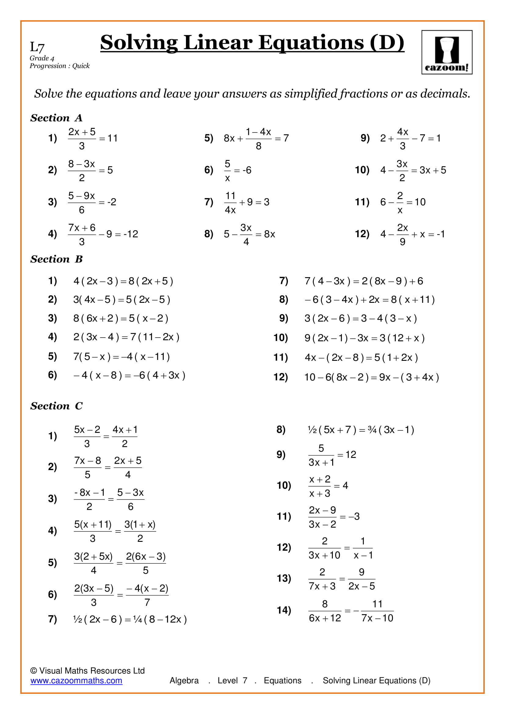 Maths Worksheets | KS3 & KS4 Printable PDF Worksheets
