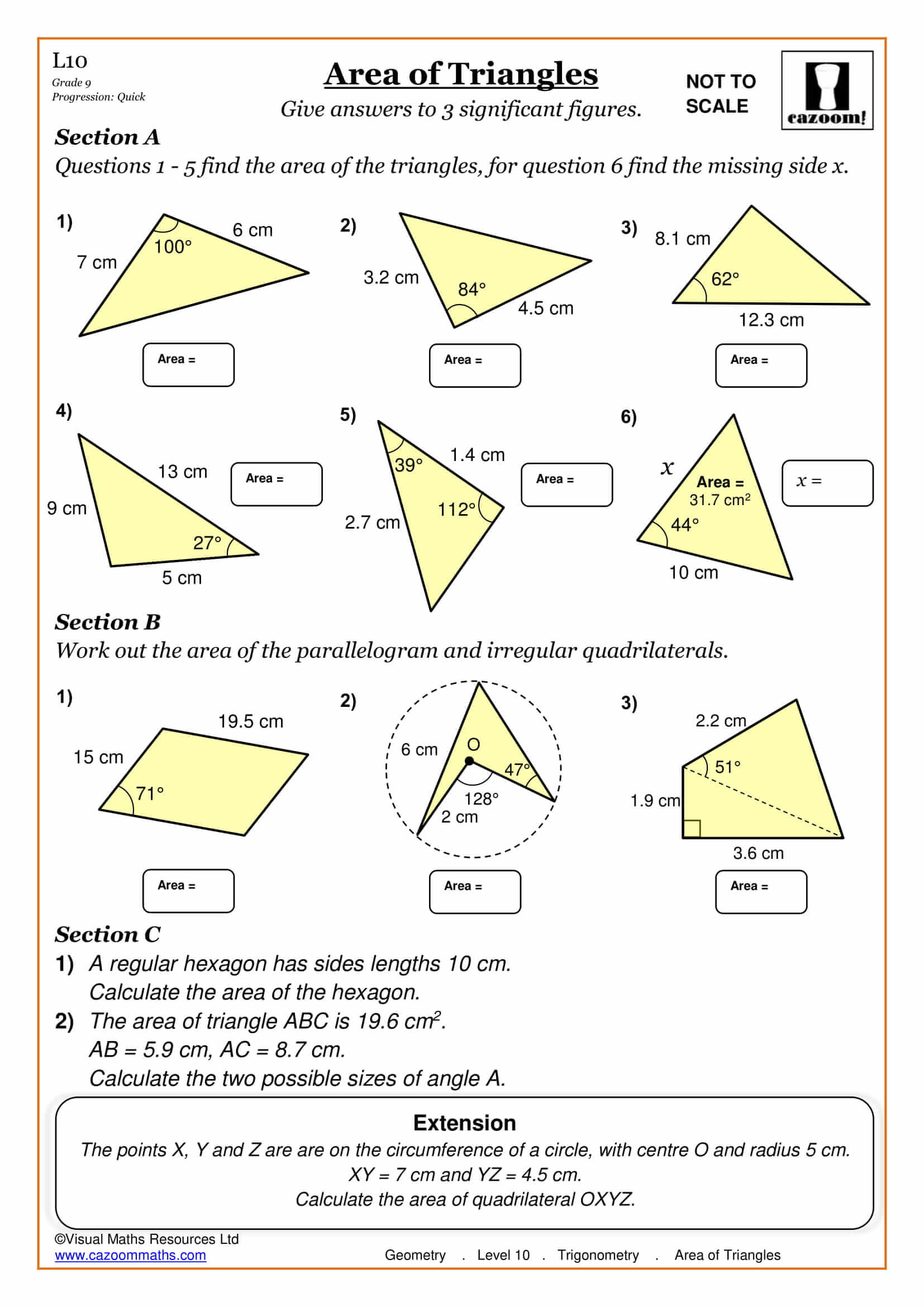 Maths Worksheets Ks3 Ks4 Printable Pdf Worksheets